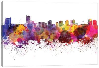 Windsor Skyline In Watercolor Canvas Art Print