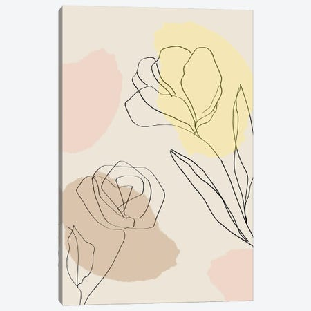 Minimalist Poster Flowers III Canvas Print #PUR3586} by Paul Rommer Canvas Art Print
