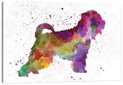 Irish Soft Coated Wheaten Terrier In Watercolor Canvas Art Print