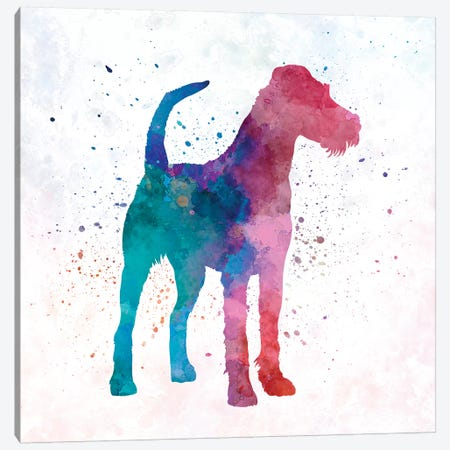 Irish Terrier In Watercolor Canvas Print #PUR371} by Paul Rommer Canvas Artwork
