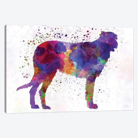Irish Wolfhound In Watercolor Canvas Print #PUR373} by Paul Rommer Canvas Wall Art