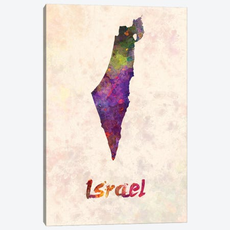 Israel In Watercolor Canvas Print #PUR375} by Paul Rommer Canvas Print