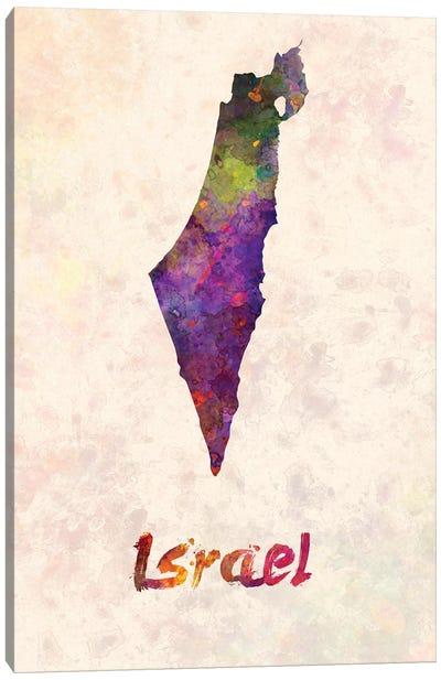Israel In Watercolor Canvas Art Print