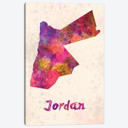 Jordan In Watercolor Canvas Print #PUR388} by Paul Rommer Art Print