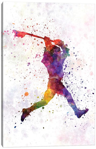 Lacrosse Man Player I Canvas Art Print