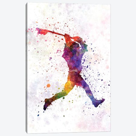 Lacrosse Man Player I Canvas Print #PUR408} by Paul Rommer Canvas Wall Art