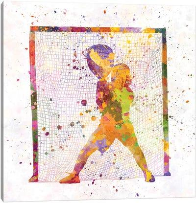 Lacrosse Goalie Canvas Art Print