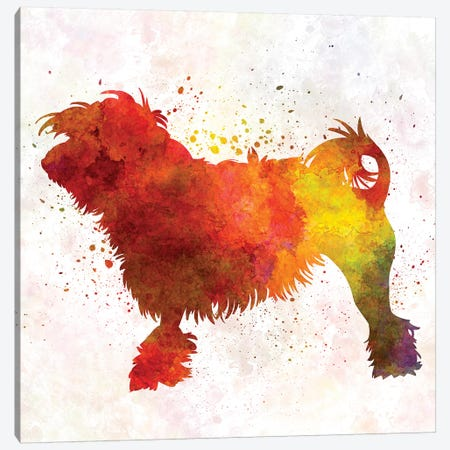 Little Lion Dog In Watercolor Canvas Print #PUR428} by Paul Rommer Canvas Art
