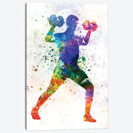 Man Exercising Weight Training Canvas Print #PUR445} by Paul Rommer Canvas Print