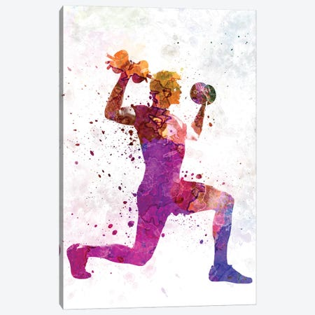 Man Exercising Weight Training Workout Fitness Canvas Print #PUR446} by Paul Rommer Canvas Print