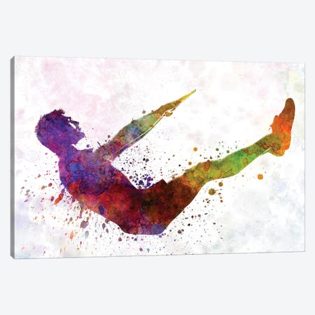 Man Exercising Workout Fitness Canvas Print #PUR447} by Paul Rommer Canvas Art Print
