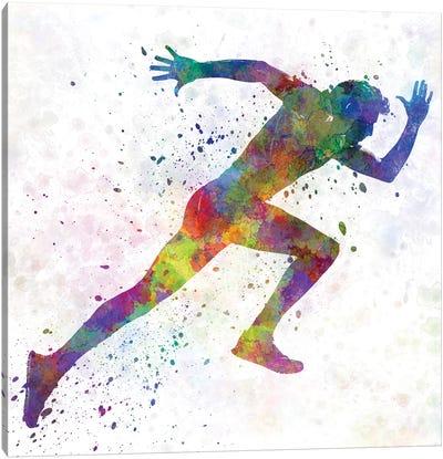 Man Running Sprinting Jogging I Canvas Art Print
