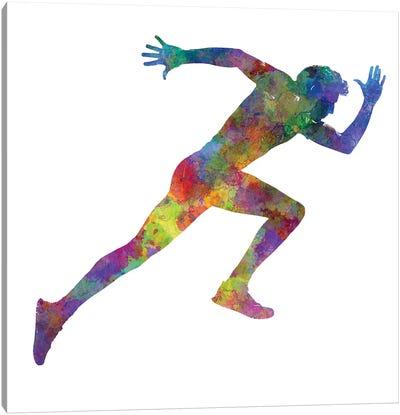 Man Running Sprinting Jogging II Canvas Art Print