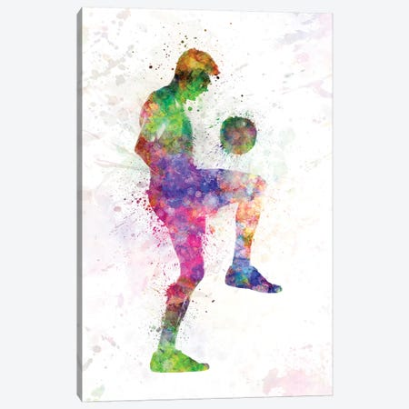 Man Soccer Football Player I Canvas Print #PUR470} by Paul Rommer Canvas Print