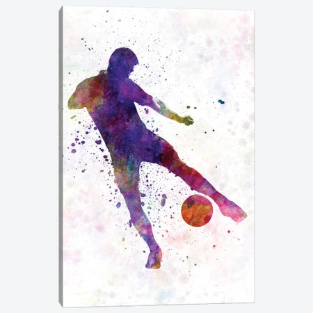 Man Soccer Football Player II Canvas Print #PUR471} by Paul Rommer Canvas Art Print