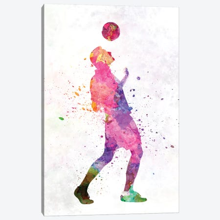 Man Soccer Football Player VI Canvas Print #PUR475} by Paul Rommer Canvas Wall Art