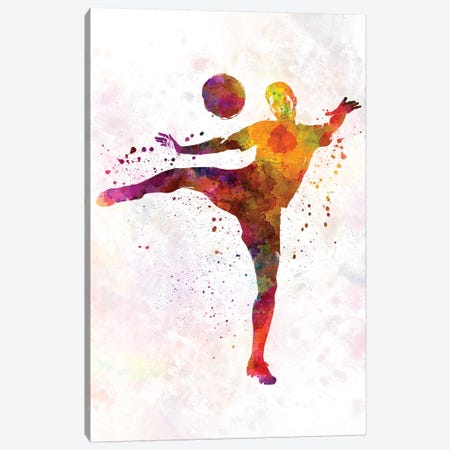 Man Soccer Football Player VII Canvas Print #PUR476} by Paul Rommer Canvas Art