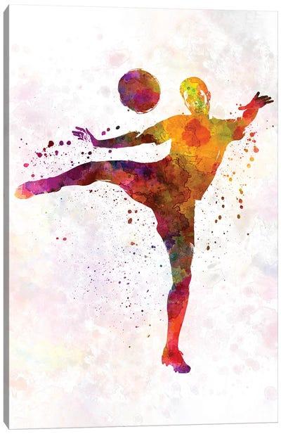 Man Soccer Football Player VII Canvas Art Print