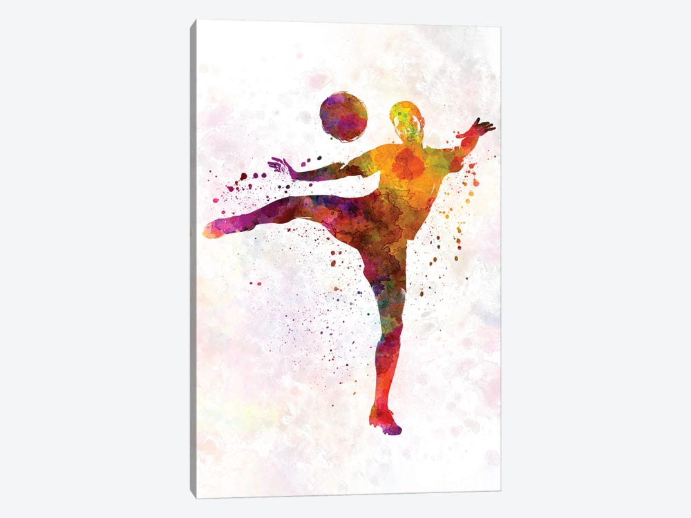 Man Soccer Football Player VII by Paul Rommer 1-piece Canvas Print