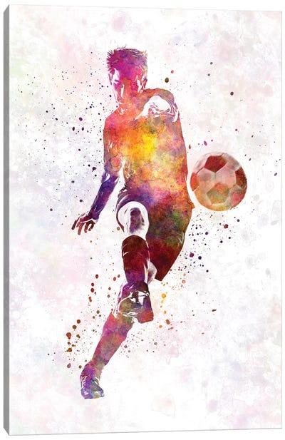Man Soccer Football Player X Canvas Art Print