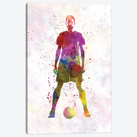 Man Soccer Football Player XI Canvas Print #PUR480} by Paul Rommer Canvas Wall Art