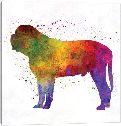 Mastiff In Watercolor Canvas Art Print