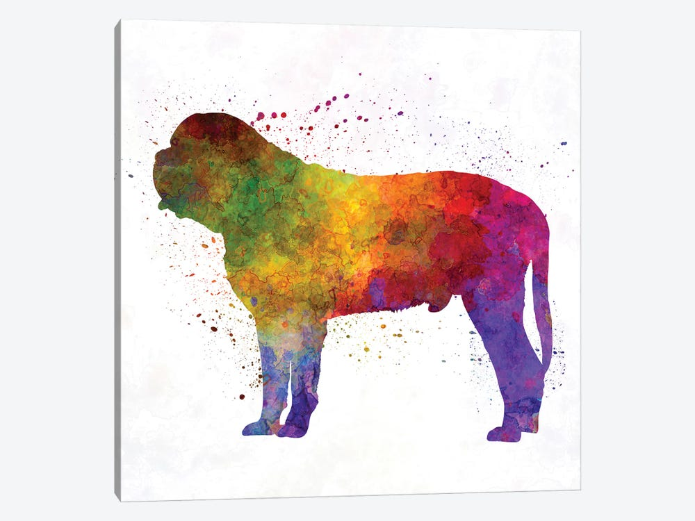 Mastiff In Watercolor by Paul Rommer 1-piece Canvas Print