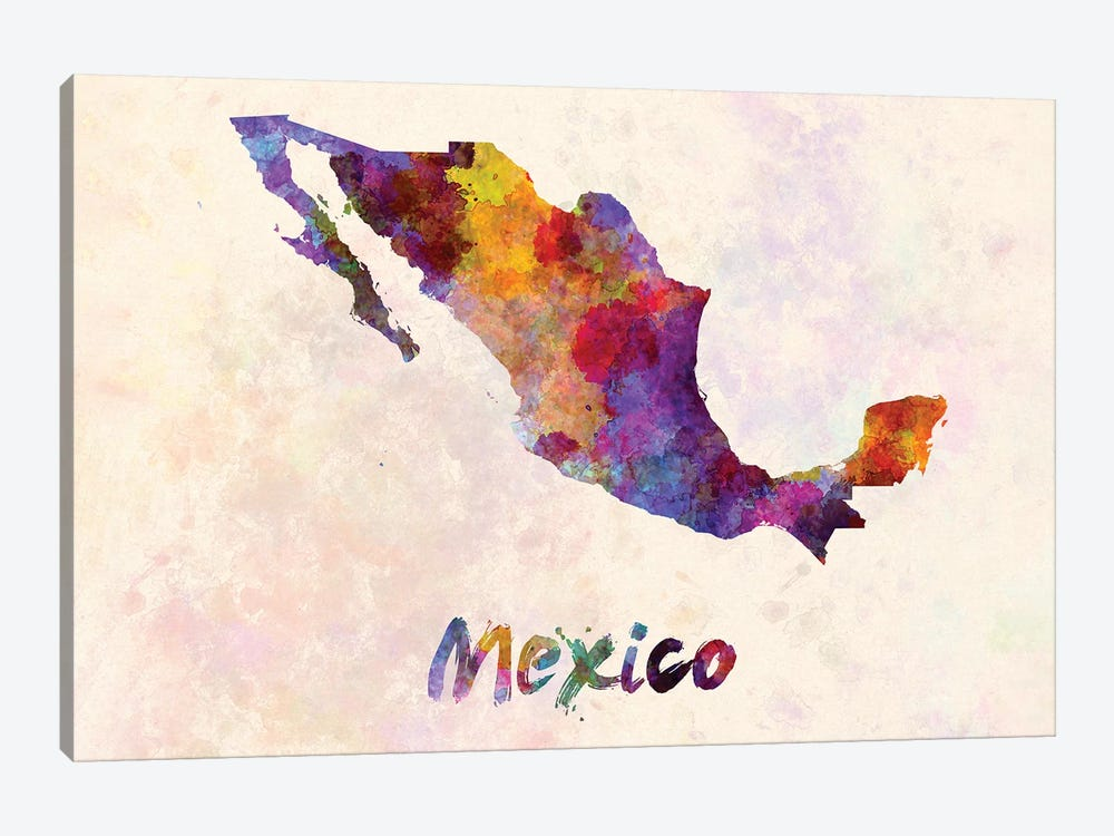Mexico In Watercolor by Paul Rommer 1-piece Canvas Artwork