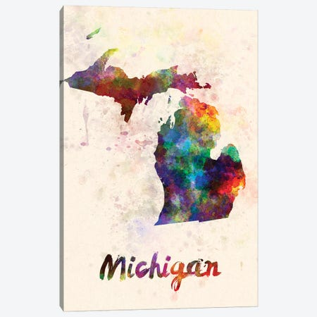 Michigan Canvas Print #PUR505} by Paul Rommer Canvas Artwork