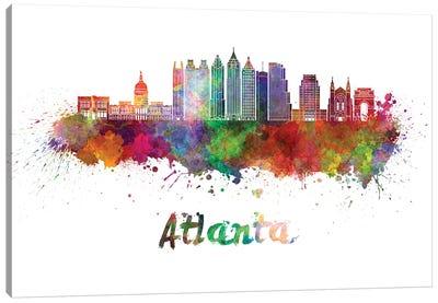Atlanta Skyline In Watercolor II Canvas Art Print
