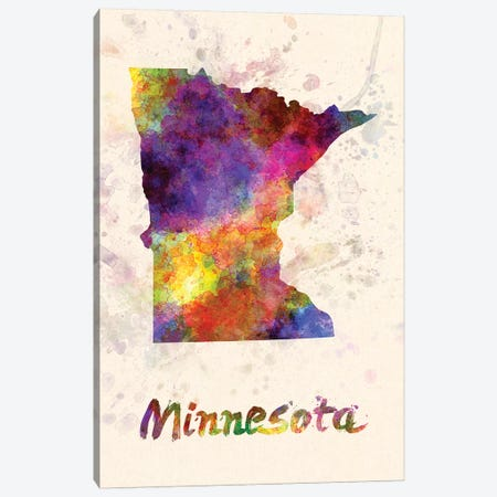 Minnesota Canvas Print #PUR511} by Paul Rommer Canvas Wall Art