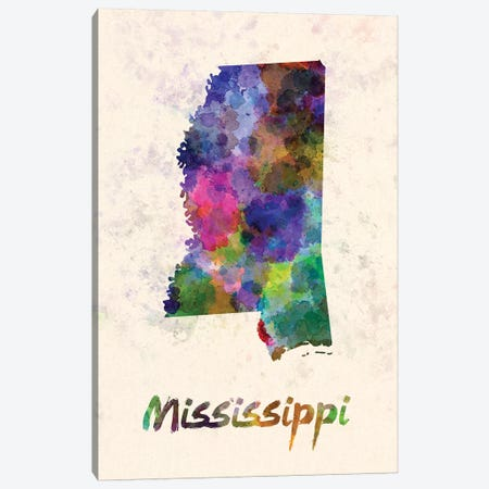 Mississippi Canvas Print #PUR513} by Paul Rommer Canvas Wall Art