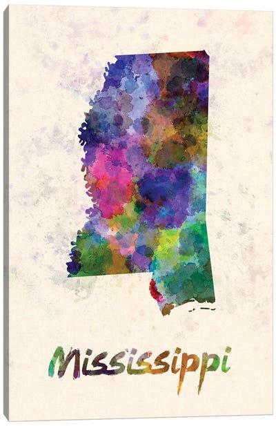 Mississippi Canvas Art Print