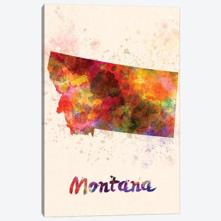 Montana Canvas Print #PUR517} by Paul Rommer Canvas Print
