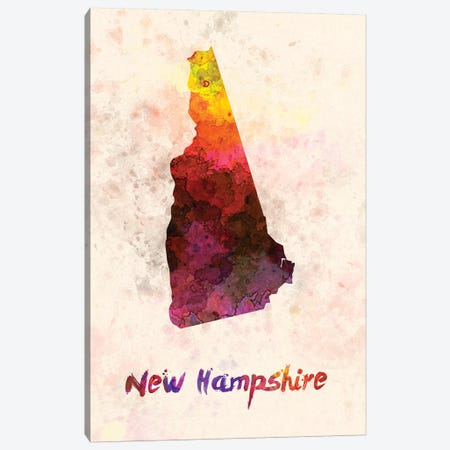 New Hampshire 3-Piece Canvas #PUR529} by Paul Rommer Canvas Art Print