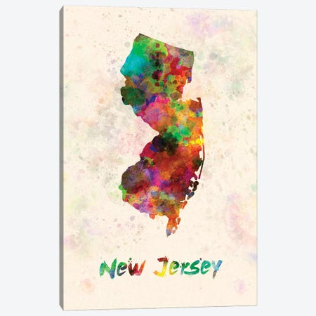 New Jersey Canvas Print #PUR531} by Paul Rommer Canvas Wall Art