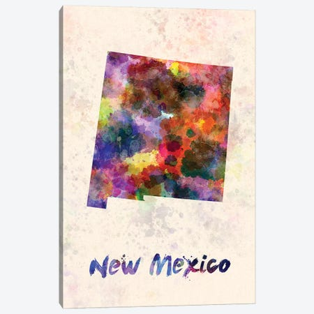 New Mexico Canvas Print #PUR533} by Paul Rommer Canvas Artwork