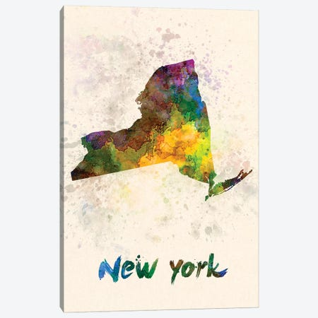 New York Canvas Print #PUR535} by Paul Rommer Art Print