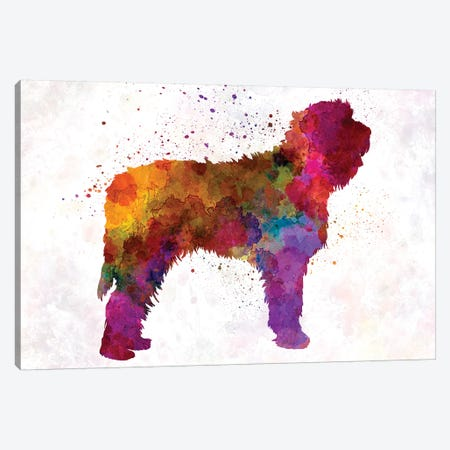 Otterhound In Watercolor Canvas Print #PUR558} by Paul Rommer Canvas Artwork