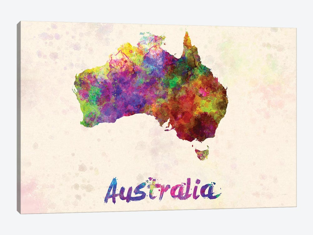 Australia In Watercolor by Paul Rommer 1-piece Canvas Art