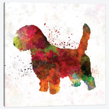 Petit Basseft Grifon Vendeen In Watercolor Canvas Print #PUR570} by Paul Rommer Canvas Artwork