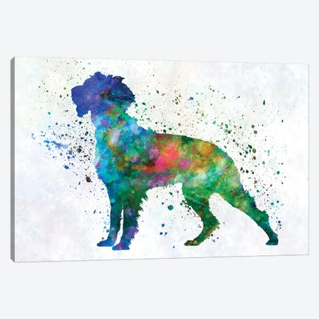 Pont Audemer Spaniel In Watercolor Canvas Print #PUR584} by Paul Rommer Canvas Artwork
