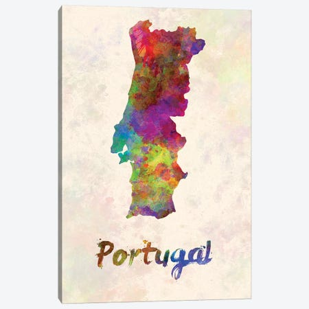 Portugal In Watercolor Canvas Print #PUR588} by Paul Rommer Art Print