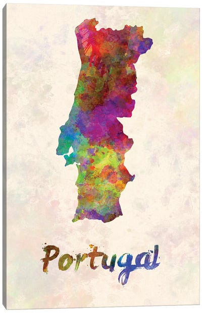 Portugal In Watercolor Canvas Art Print