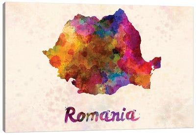 Romania In Watercolor Canvas Art Print