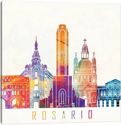 Rosario Landmarks Watercolor Poster Canvas Art Print
