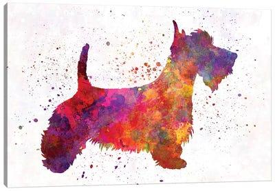 Scottish Terrier In Watercolor Canvas Art Print
