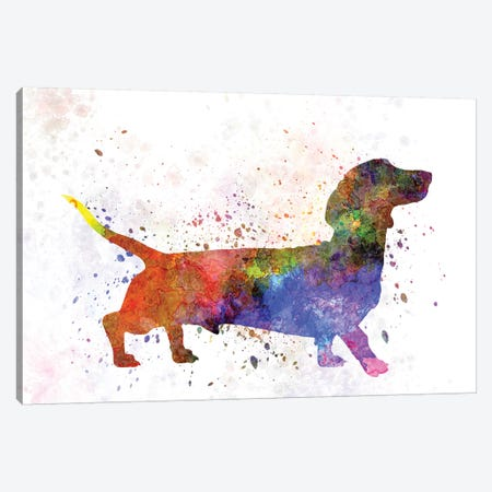 Short Haired Dachshund Canvas Print #PUR656} by Paul Rommer Canvas Wall Art