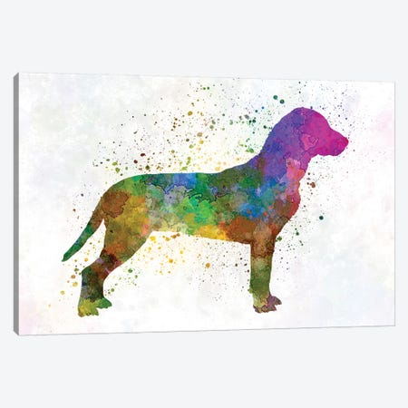 Slovakian Hound In Watercolor Canvas Print #PUR662} by Paul Rommer Canvas Wall Art