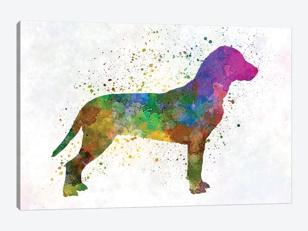 Slovakian Hound In Watercolor by Paul Rommer 1-piece Canvas Print